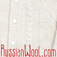 Кофта Балкарская XL белая с капюшоном