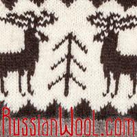 Свитер Балкарский XXL с оленями серый на рост выше среднего