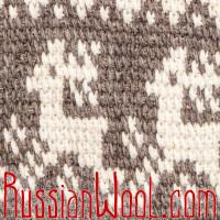 Жилетка-безрукавка XL-XXL Деревенская шерстяная с оленями
