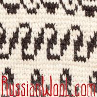 Жилетка-безрукавка XXL Деревенская шерстяная с цветами и волнами