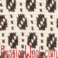 Жилетка Деревенская XL серая с пестрым орнаментом
