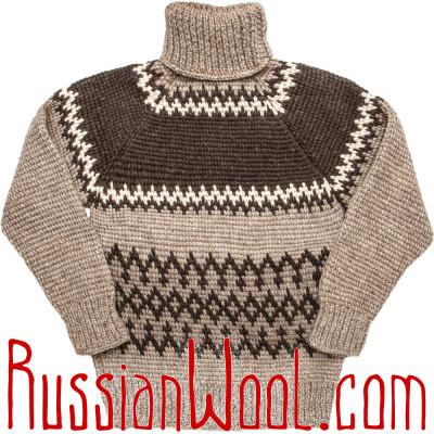 Мужской свитер XXL из грубой шерсти