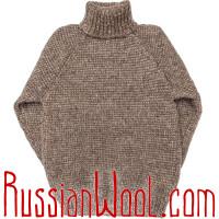 Свитер Деревенский XL/2XL с оленями, шерстяной крупной вязки