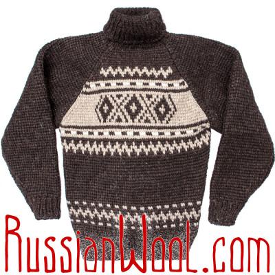 Мужской свитер 3XL для охоты и рыбалки, из грубой шерсти
