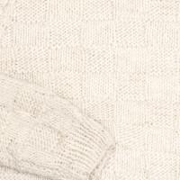 Свитер Балкарский M-L белый с объемными узорами