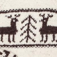 Свитер Балкарский M с оленями, белый