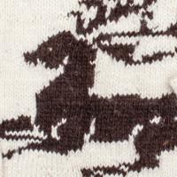 Свитер Балкарский XL белый с лежащим оленем, на рост выше среднего