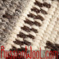 Мужской джемпер «Ромб» крупной вязки из натуральной шерсти