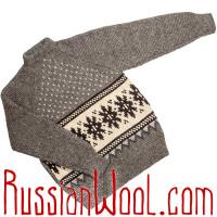 Мужской джемпер «Зимний Вечер» крупной вязки из натуральной шерсти