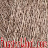 Козий пух натуральный серый Зимняя сказка