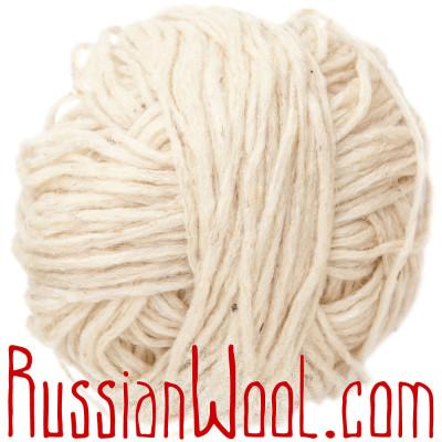 Ровница чистошерстяная овечья белая