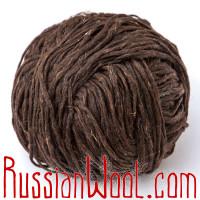 Ровница чистошерстяная овечья тёмно-коричневая