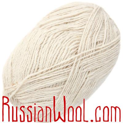 Пряжа Камтекс Чистошерстяная овечья белая