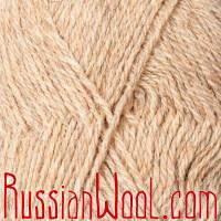 Пряжа Камтекс Чистошерстяная овечья рыжевато-бежевая