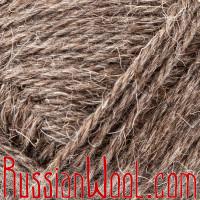 Пряжа Троицкая Деревенька овечья натуральная тёмная