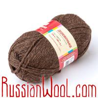 Пряжа Троицкая Деревенька овечья тёмно-коричневая